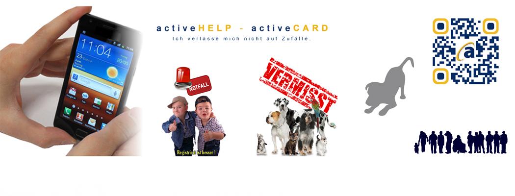 activeHELP mit individueller (Notfall-)Webseite.