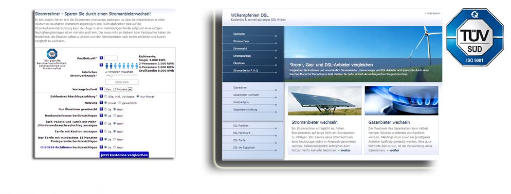 Strom-, Gas- und DSL-Anbieter